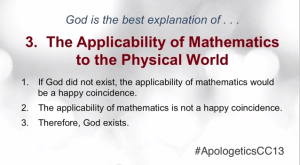 The Applicability of Mathematics