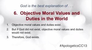 Objective Morals