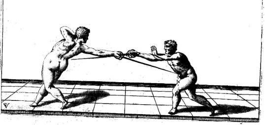 """Figure 1: Illustration of a scanso della vita from Fabris' """"Lo Schermo"""""""